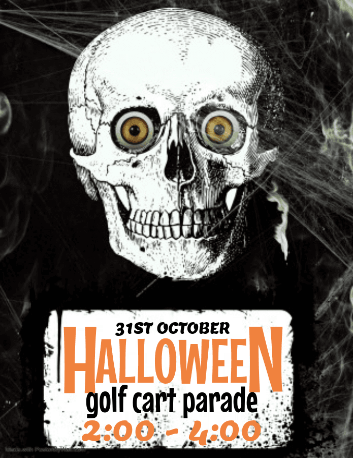 flyer for Halloween Golf Cart Parade
